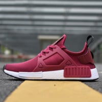 ADIDAS RED NMD Boost Women Men Running Sport Casual Shoes Sneakers B-FEU-SY