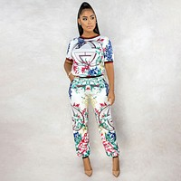 Two piece set of popular digital printing suit