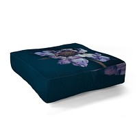 Morgan Kendall purple honeycomb Floor Pillow Square