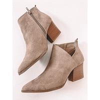 Candice Taupe Booties