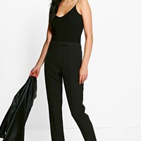 Megzhan Pintuck Tailored Ankle Grazer Trousers   Boohoo