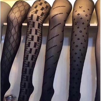 LOUIS VUITTON LV Fashion Women Sock Sexy Sockings Long Socks