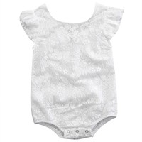 2017 Newborn Baby Summer Rompers Infant Baby Girl Cotton Lace Romper Sleeveless White Jumpsuit Kids Baby Girls Clothes Outfit