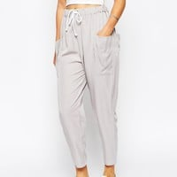ASOS TALL Woven Drape Pocket Trousers with Draw Cord