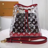 LV Transparent Bag  Shoulder Bag Two Piece Set Louis Vuitton jelly bag crystal Bag B-3A-XNRSSNB Red