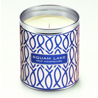 Kate's Navy Blue Fish Links Candle