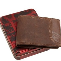 Levi's Men's Leather Passcase Wallet, Brown, One Size