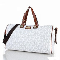 MK MICHAEL KORS Classic Popular Women Leather Multicolor Luggage Travel Bags Tote Handbag White I-MYJSY-BB
