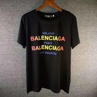 Balenciaga Fashion Round Neck Tunic Shirt Top Blouse-1