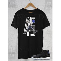 Air Jordan 11 Space Jam Sneakers Bugs Bunny Adult Unisex T Shirt