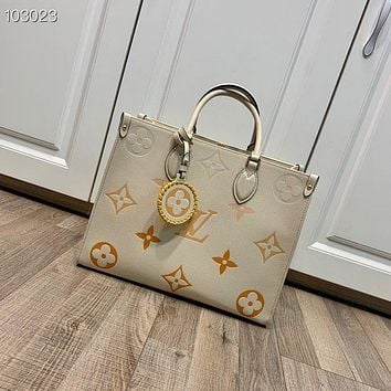 LV Louis Vuitton MID SIZE Monogram Empreinte ONTHEGO By The Pool HANDBAG TOTE BAG