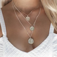 This Night Layered Gold Coin Necklace
