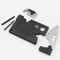 Pocket Knifes For Outdoor Camping Survival EDC Kits 9 in 1 Multifunctional Card Compass Magnifier Multi Knife Hand Tool