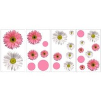 RoomMates, 5 in. x 11.5 in. Flower Power Peel and Stick Wall Decals, RMK1013SCS at The Home Depot - Mobile