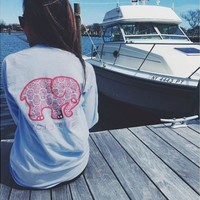 Woman Long Sleeve Jumper Sweatshirt Outwear Tracksuit Elephant Pullover [8045196103]