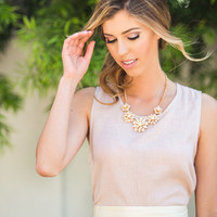 Penelope Linen Top by Everly