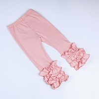 Girls Ruffle Leggings -Various Colors