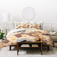 Bree Madden Faded Daisy Duvet Cover