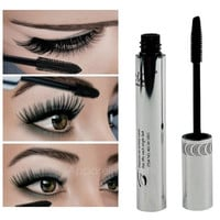 1 PCS New Eye Lashes Makeup Waterproof Long Eyelash Black Silicone Brush Head Mascara AP (Color: Black) = 1651537092