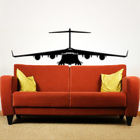 Wall Decal Vinyl Sticker Decals Art Home Decor Mural Military Aircrafts Plane Airplane Fighter Jet Copter Helicopter Aviation AN256