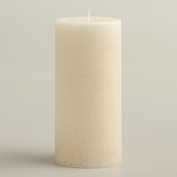 "3"" x 6"" Mottled Madagascar Vanilla Pillar Candle - World Market"