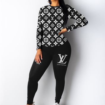 LV new women's sports suit two-piece