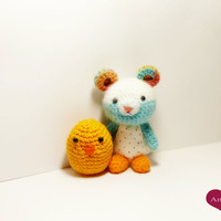 Crochet Teddy bear , plushie, Amigurumi , Plush bear. Miniature Teddy Bear. amigurumi crochet