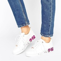 Ted Baker Barrica White Leather Trainers at asos.com
