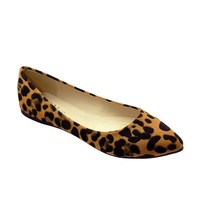 Angie Leopard Pointed Toe Ballet Flats