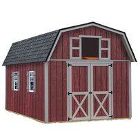 Shop Best Barns Woodville without Floor Gambrel Wood Storage Shed (Common: 10-ft x 12-ft; Interior Dimensions: 9.42-ft x 11.17-ft) at Lowes.com