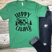 Happy Camper Tee- Green