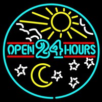 Open Hours Neon Sign