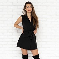 Night Walker Romper in Black