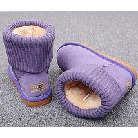 UGG Plush Leather Boots Boots In Tube Boots Shoes