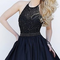 Short Halter Top Sherri Hill Homecoming Dress