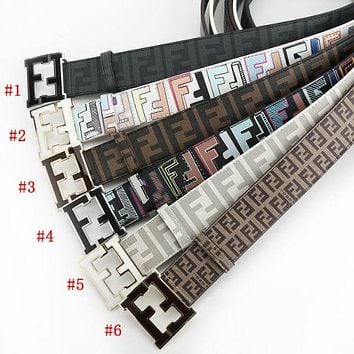 FENDI Popular Women Men Classic Smooth Buckle Belt Leather Belt I-A-GFPDPF