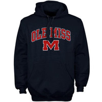Ole Miss Rebels Arch Over Logo Hoodie – Navy