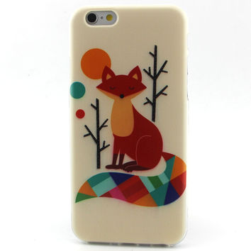 Painting Star Wolve Cat Fox Soft TPU Case For iPhone 5 5S SE 5C 6 6S 4 4S Silicone Pattern Back Coque For apple iPhone 5S cases