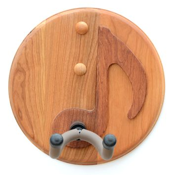 8th Note Guitar Holder Handcrafted in Cherry Wood