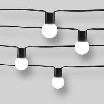 10ct Modern String Lights - Frosted G40 String Lights with Collar - Project 62™