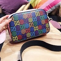 GUCCI Pop Candy Series Women Men Shopping Bag Leather Shoulder Bag Crossbody Satchel