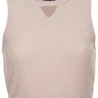 Lurex Cut Out Top - New In This Week - New In - Topshop USA