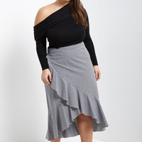 Meghan Checkered Ruffle Skirt