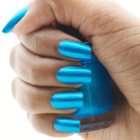 Peacock Blue Nail Polish 15 ml by CanvasNails on Etsy