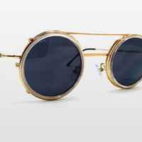 Sonic Sunglasses by Spitfire - Gold Clip Off Frame