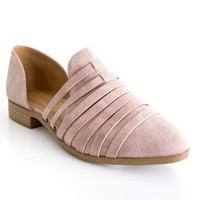 Women's Strappy Pointed Toe Flat with Open Sides