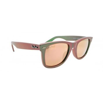 NEW Authentic Ray-Ban RB2140-6109Z2 COSMO VENUS Metallic Green/Pink Sunglasses