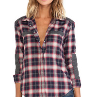 IRO . JEANS Clelie Chemise Top in Gray