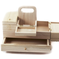 Unfinished Wooden Sewing Organizer
