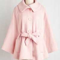 Pastel Mid-length Long Sleeve Central Park Sashay Cape